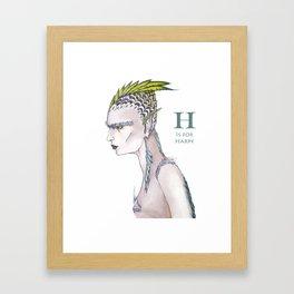 H is for Harpy Framed Art Print