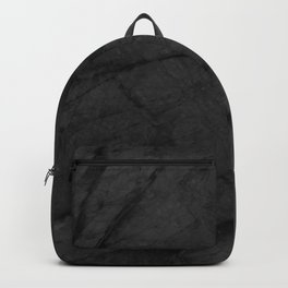 Dark Grey Matte Black Marble Backpack