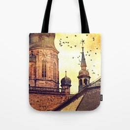 Heidelberg Church Of The Holy Spirit tower Tote Bag