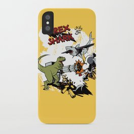 T-Rex VS Shark  iPhone Case