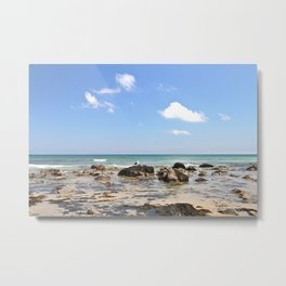 Sunny day on the Rocky Shore Metal Print