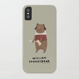 William Shakesbear iPhone Case