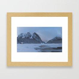 Lake Louise Sunrise Framed Art Print