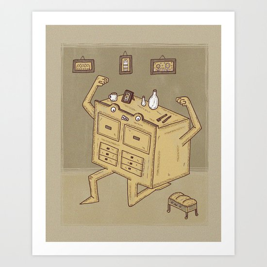 Chest of drawers Art Print