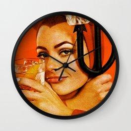 Vodka Martini, A devilishly dry proposition Vintage Pitchfork - Devil Advertisement Poster Wall Clock