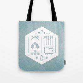 Settlers Line Art Tote Bag