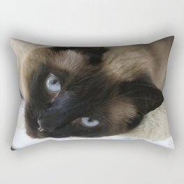 Siamese Soulful Expression Rectangular Pillow