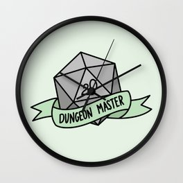 Dungeon Master D20 Wall Clock