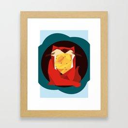 cat&birds Framed Art Print