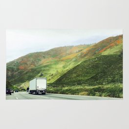 California mountains Rug