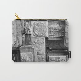 Black and White Vintage Carry-All Pouch