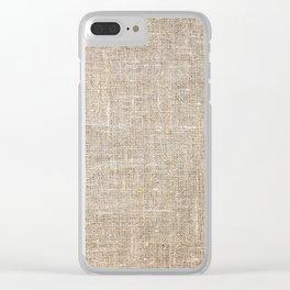 Len Sack Fabric Texture Clear iPhone Case