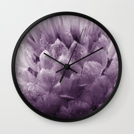 Monochrome - Centaurea Wall Clock