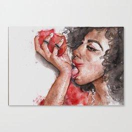 Tasty peach Canvas Print