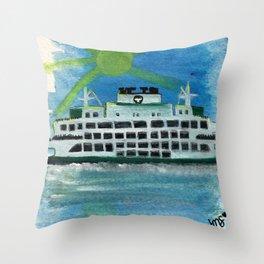 Sailing on Heavenly Seas Throw Pillow