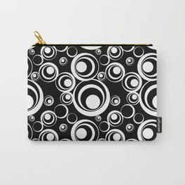 Black White Circles Geometric Pattern Carry-All Pouch