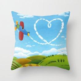 Flying Heart Throw Pillow
