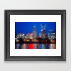 city of dreams Framed Art Print