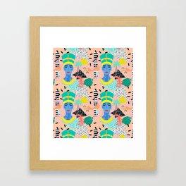 Postmodern Nefertiti Framed Art Print