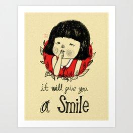 shiiii- you will smile :) Art Print