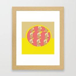 Pink ladies pop art print Framed Art Print