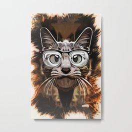 Cat Curious Metal Print