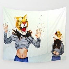 Tiger Mask & Pills Wall Tapestry
