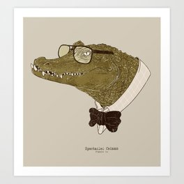 Spectacle(d) Caiman Art Print