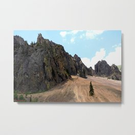 Rocky Crags above the Sunnyside Mill at Eureka Metal Print