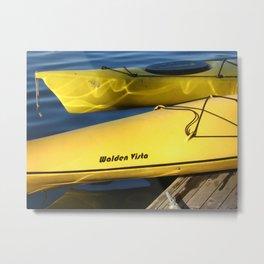 Walden Vista Kayaks Metal Print