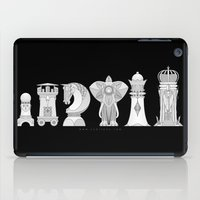 chess iPad Cases featuring Modernist Chess by tuditees