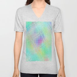 Re-Created Twisted SQ XXXII by Robert S. Lee Unisex V-Neck