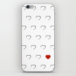 Hearts - Classic Red iPhone Skin