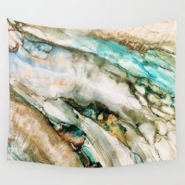 Teal Turquoise Geode Wall Tapestry