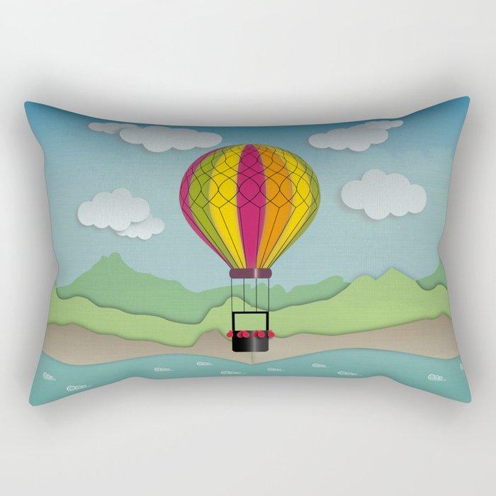 Balloon Aeronautics Sea & Sky Rectangular Pillow