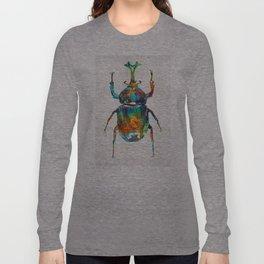 Colorful Beetle Art - Scarab Beauty - By Sharon Cummings Long Sleeve T-shirt