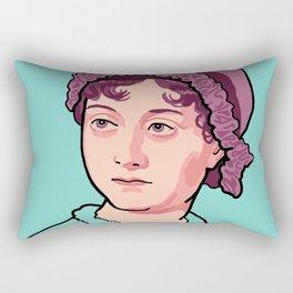 Jane Austen Portrait Blue Purple Rectangular Pillow