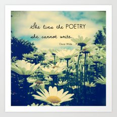 Poetic Life Art Print
