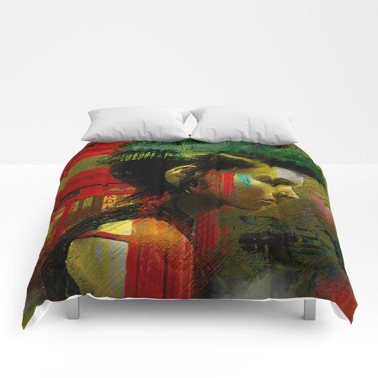 Under a British rain Comforters