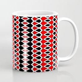 Red Black and White Pattern Coffee Mug