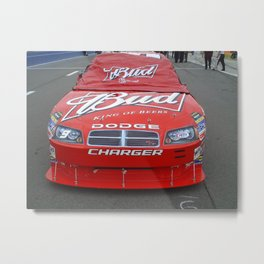 Budweiser Race Car Metal Print