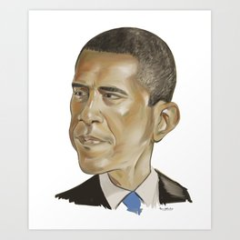 Barack Obama (US President) Art Print