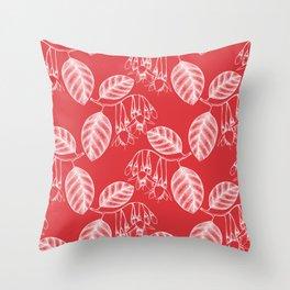 Spring Fresh Poppy Red Throw Pillow