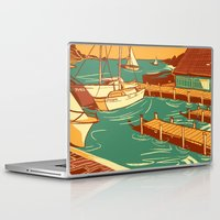 cape cod Laptop & iPad Skins featuring Cape Cod by Andrea Porretta