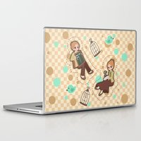 bioshock Laptop & iPad Skins featuring Bioshock Infinite - Luctece Twins by Choco-Minto