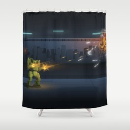 Robots Fight Shower Curtain