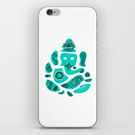 Ganesha Drawing with Mandala Elements iPhone Skin