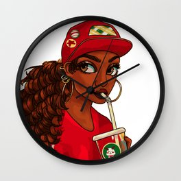 The New Girl (Painting) Wall Clock