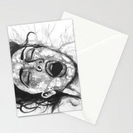 Moan b&w Stationery Cards