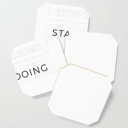 Entrepreneur Gift Shirt Stop Talking Start Doing Ceo Tee Coaster